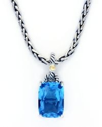 Lord & Taylor | Balissima Sterling Silver And 18 Kt. Yellow Gold Blue Topaz Pendant | Lyst