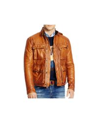 Pink Pony - Brown Polo Southbury Leather Bike Jacket for Men - Lyst