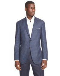 Canali | Blue Classic Fit Nail-head Wool Sport Coat for Men | Lyst