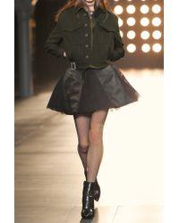 Saint Laurent - Green Cotton And Wool-blend Gabardine Jacket - Lyst