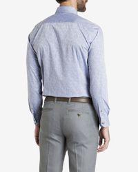 Ted Baker - Blue Jacquard Shirt for Men - Lyst