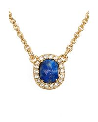 kate spade new york | Blue 'park Lex' Pendant Necklace | Lyst