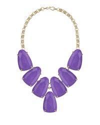 Kendra Scott - Purple Harlow Magnesite Statement Necklace - Lyst