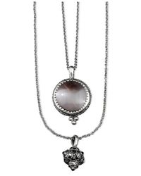 Lucky Brand | Metallic Silvertone Semiprecious Calcite Layered Necklace | Lyst