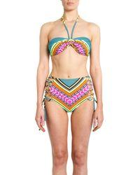 Mara Hoffman   Brown Feather print Underwired Bikini   Lyst