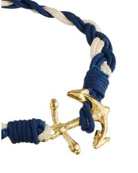 ASOS | Blue Anchor Bracelet With Gold Anchor for Men | Lyst