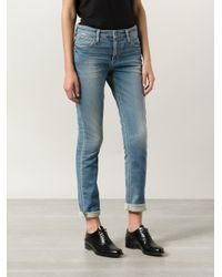 Joe's Jeans - Blue Slim Mid-Rise Stretch-Denim Jeans - Lyst