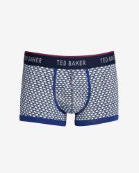Ted Baker | Blue Swan Print Boxer Shorts for Men | Lyst