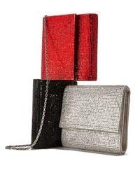 Judith Leiber Couture - Metallic Soho Square-beaded Crossbody Bag - Lyst