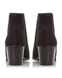 Dune | Black Peonie Mid Heel Chelsea Boots | Lyst