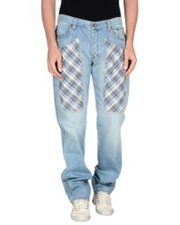 Jeckerson - Blue Denim Trousers for Men - Lyst
