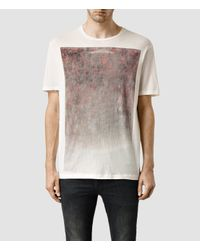 AllSaints | White Folk Crew T-shirt for Men | Lyst