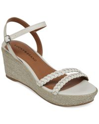 Lucky Brand | Metallic Lyall Platform Wedge Sandals | Lyst