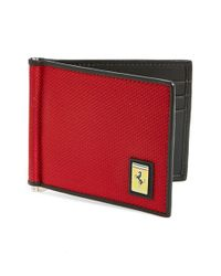 Ferrari | Red 'utility' Money Clip Wallet for Men | Lyst