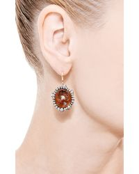 Kimberly Mcdonald - Red One Of A Kind Fire Opal and Irregular Diamond Earrings - Lyst