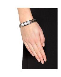 Balenciaga - Metallic 3 Studs Classique Bracelet - Lyst