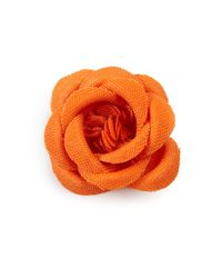 Hook + Albert Orange Lapel Flower Pin