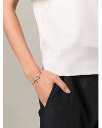 Ferragamo | Metallic Gancini Chain Bracelet | Lyst