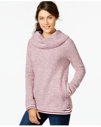 Tommy Hilfiger | Pink Layered Cowl-neck Top | Lyst