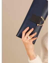Danielle Foster | Metallic Gold Cross Top Ring - Sold Out for Men | Lyst