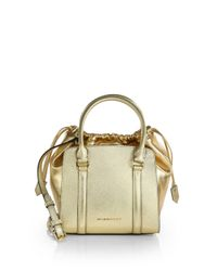 Burberry | London Metallic Leather Tote | Lyst