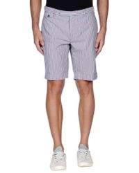 Incotex | Blue Bermuda Shorts for Men | Lyst