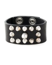 DIESEL - Black 'acowy' Bracelet for Men - Lyst