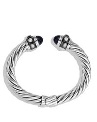 David Yurman - Metallic Renaissance Bracelet With Black Onyx & Diamonds - Lyst
