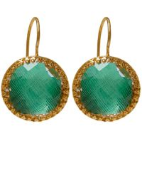 Larkspur & Hawk | Green Gold Olivia Button Topaz Earrings | Lyst