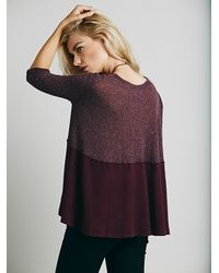Free People - Purple We The Free Womens We The Free Half And Half Thermal - Lyst