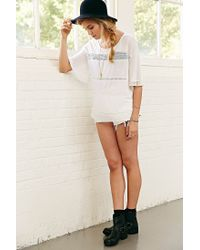 Kimchi Blue - White Isabelle Crochet-Inset Top - Lyst