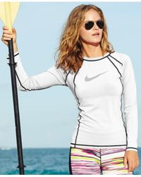 Nike - White Long-sleeve Logo Rashguard - Lyst