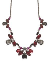 Marchesa | Red Hematite Crystal Bib Necklace | Lyst