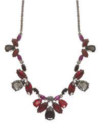 Marchesa | Red Hematite Crystal Bib Necklace | Lyst