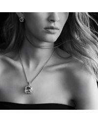 David Yurman - Metallic Labyrinth Medium Pendant with Prasiolite and Diamonds - Lyst