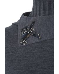 Dorothee Schumacher | Gray Cutting Edge Pullover Turtle 1/1 | Lyst