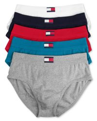 Tommy Hilfiger - Multicolor 5 Pack Hip Brief for Men - Lyst