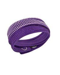 Swarovski | Purple Slake 2-in-1 Bracelet | Lyst