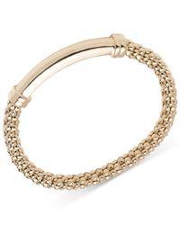 Anne Klein | Metallic Textured Chain Bar Stretch Bracelet | Lyst