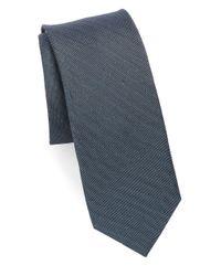 Calvin Klein - Blue Dotted Silk-blend Tie for Men - Lyst