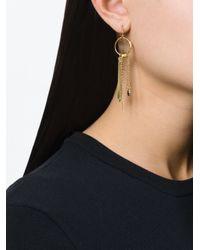Wouters & Hendrix   Metallic 'playfully Precious' Garnet Mis-match Earrings   Lyst