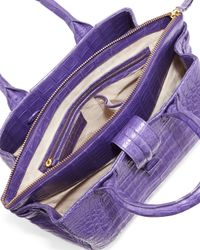 Nancy Gonzalez - Purple Cristina Small Crocodile Tote - Lyst