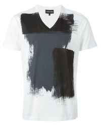 Emporio Armani | White Cotton V-neck T-shirts 2 Pack In Regular Fit for Men | Lyst