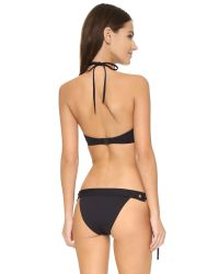 Proenza Schouler | Black Solids Grommet Bandeau Bikini | Lyst