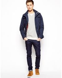 Pull&Bear - Blue Lightweight Parka Jacket for Men - Lyst