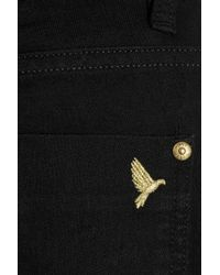 M.i.h Jeans - Black Paris Cropped Mid-Rise Slim-Leg Jeans - Lyst