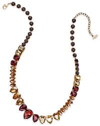 ABS By Allen Schwartz - Multicolor Hematite-tone Multi-crystal Collar Necklace - Lyst