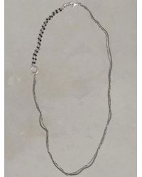 John Varvatos - Metallic Silver & Black Bead Necklace for Men - Lyst