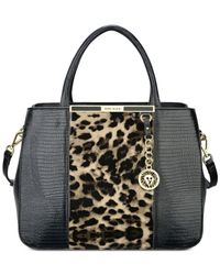 Anne Klein | Black Run Wild Medium Satchel | Lyst
