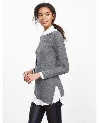 Banana Republic | Gray Asymmetrical-hem Pullover | Lyst
